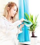 чистый дом выходит женщина Стоковые Изображения