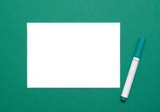 Чистый лист и отметка Стоковые Фото