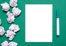 Чистый лист и отметка Стоковая Фотография RF