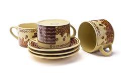 3 чистых кофейной чашки стоковое изображение