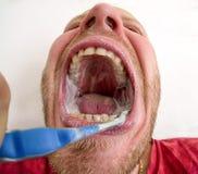 чистя щеткой зубы зубоврачебная гигиена Стоковое Изображение