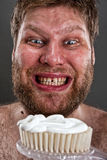 чистя щеткой зубы уродские Стоковое Фото