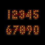 Числа лампочки Стоковое Фото