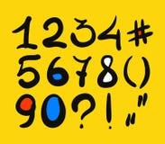 Числа нарисованные рукой Стоковое фото RF