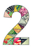 Число 2 мозаики Стоковые Изображения RF