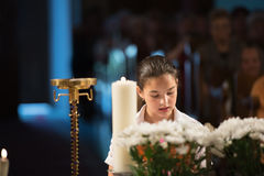Читает молитву Стоковая Фотография RF