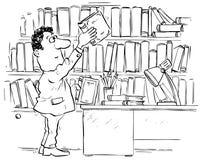 читатель архива Иллюстрация штока
