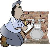 читатель газового счетчика Стоковое Изображение