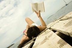 читатель праздника Стоковое Фото