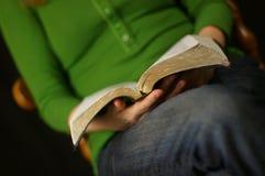 Читать библию Стоковые Изображения RF