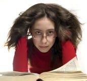 читать стекел девушки Стоковые Фотографии RF