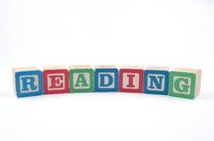 Читать с деревянными блоками Стоковая Фотография RF