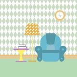 Читальный зал и воссоздание Иллюстрация цвета вектора плоская Стоковое фото RF
