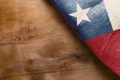 Чилийский национальный флаг Стоковые Изображения RF