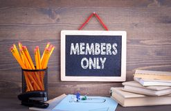 Члены только, концепция дела стоковые фотографии rf