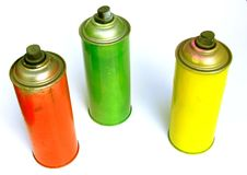 Чонсервная банка краски брызга Стоковые Фото