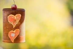 Чонсервная банка старой концепции влюбленности ржавая Стоковое Изображение RF