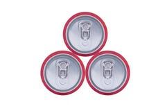 3 чонсервной банкы питья Стоковые Фото