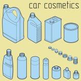 Чонсервные банкы масла мотора и двигателя автомобиля, анти- замораживание, вода бесплатная иллюстрация