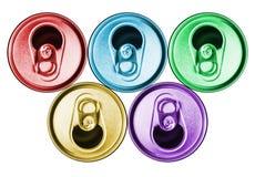 Чонсервные банкы пива металла Стоковые Фотографии RF