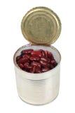 чонсервные банкы фасолей metal красный цвет Стоковая Фотография