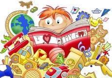 чтение влюбленности Стоковое Изображение RF