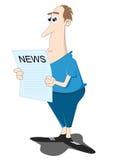 чтение газеты бесплатная иллюстрация
