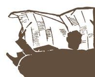 Чтение газеты иллюстрация вектора