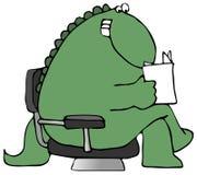 чтение динозавра Стоковое фото RF