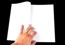 чтение книги пустое открытое стоковая фотография rf