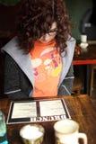 чтение меню Стоковые Изображения RF