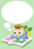 чтение младенца Стоковое Фото