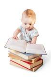 Чтение младенца Стоковые Изображения