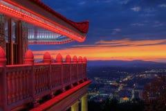 чтение Пенсильвании pagoda города обозревая Стоковое Фото