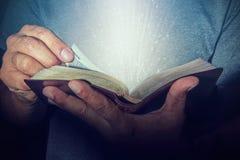 чтение святейшего человека библии Стоковое фото RF
