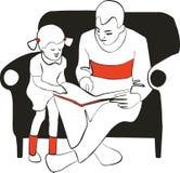 чтение семьи бесплатная иллюстрация