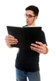 чтение человека nosy стоковое фото rf