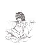 чтение девушки франтовское Стоковое Фото