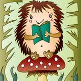 чтение hedgehog иллюстрация штока