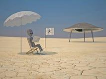 чтение humanoid Стоковая Фотография RF