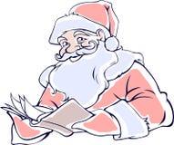 чтение santa Стоковое Изображение RF