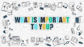 Что важно к вам концепция Multicolor на белом Brickwall бесплатная иллюстрация