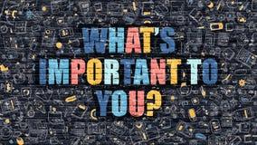 Что важно к вам концепция Multicolor на темном Brickwall иллюстрация вектора
