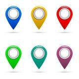 Что ваше местоположение? Значки Pin карты бесплатная иллюстрация