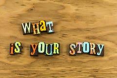 Что ваш опыт рассказа стоковые фото