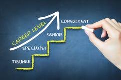 Что ваш уровень карьеры или измерять ваши этапы опыта работы Стоковое Изображение RF