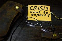 Что, который нужно предпологать от экономики во времена кризиса Стоковое Фото