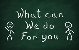 Что может мы сделать для вас Стоковое Изображение