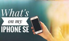 Что на моем se iphone стоковая фотография rf