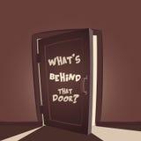Что позади та дверь Стоковая Фотография